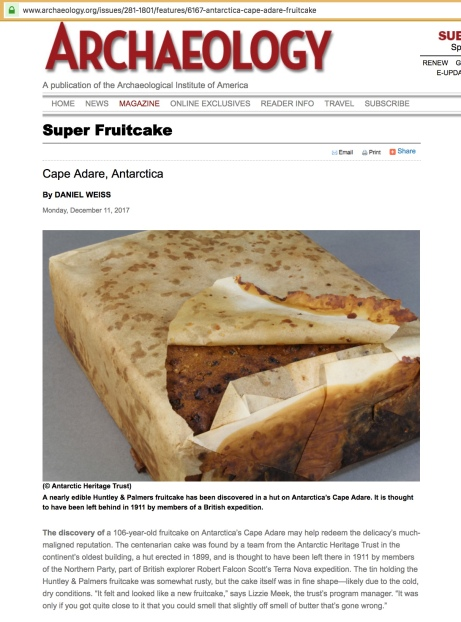 UPDATE! Archaeology Magazine ignores 34,000 year old pyramid complex to talk about a 106-year-old fruitcake.jpeg
