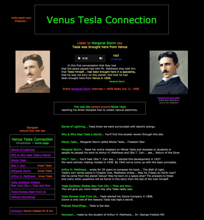 Venus Tesla Connection