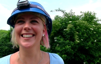 Karen - volunteer on Archaeological Park project, June 13, 2014 copy