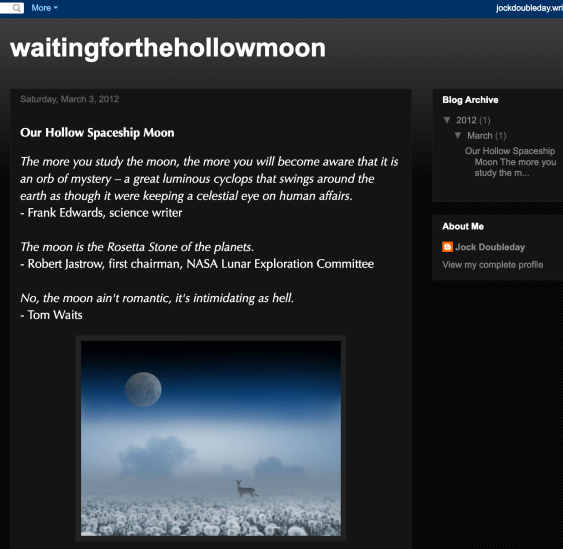 Waiting for the Hollow Moon blog screen-shot