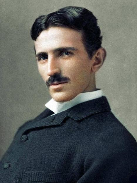 Nikola Tesla colorized photo copy
