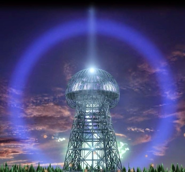 Wardenclyffe Tower Tesla Tower illustrated purple