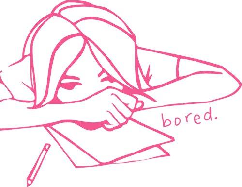 bored boredom girl student boring