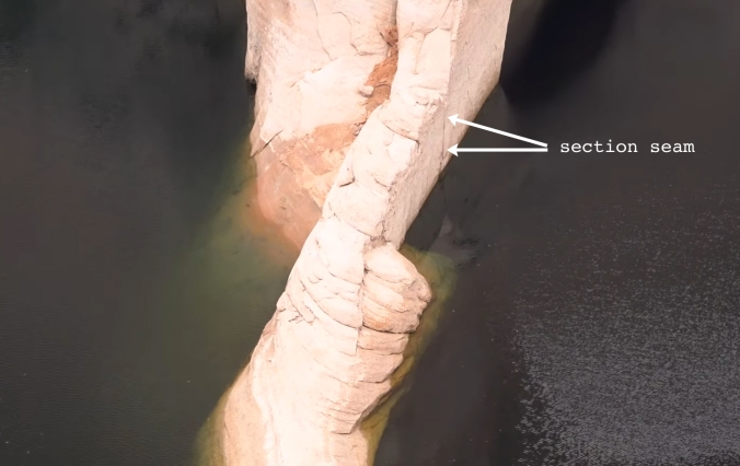 6 The Terraforming of Terra, Reflection Canyon, Utah, U.S. Section Seam 8 CLOSE-UP text arrow GOOD